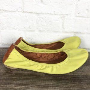Lucky Brand Emmie Neon Lime Green Ballet Flats 9.5